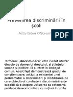 Prevenirea Discriminării În Școli