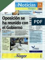 Últimas Noticias Vargas miércoles 14 septiembre  de  2016