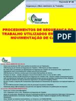 Fasciculo Nº 38-PROCEDIMENTOS DE SEG. DO TRAB. UTILIZADOS EM PLANO DE MOVIMENTAÇÃO DE CARGAS.pdf