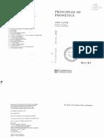 Principles of Phonetics John Laver