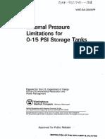 External Pressure Limitations for Storage Tanks
