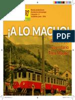 Historia , recorrido del tren macho(revista realizada por la facultad de antropologia UNCP