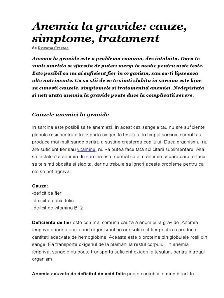 anemie feripriva sarcina