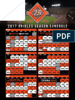 Baltimore Orioles 2017 Schedule