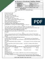 Ba English Test 7 2015