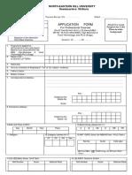 Applicationform Professional Courses 2016