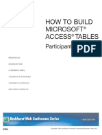 MS Access Build Tables