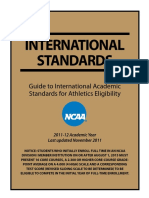 International Academic Standards for NCAA
