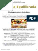 Pierde Peso Con La Dieta Dash