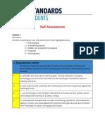 iste standards - self evaluation