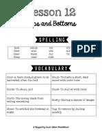Lesson 12 Study Guide