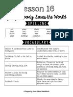 Lesson 16 Study Guide