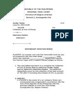 Defendant Position Paper