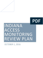 Indiana Access Monitoring Review Plan