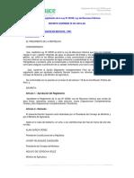 reglamento ley hidrico
