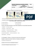 7° Ano português  1° Bimestre 2016.docx