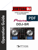 Pioneer DDJ-SR VirtualDJ Operation Guide