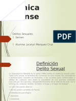 Delitos Sexuales, Quimica Forense