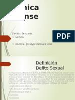 Delitos Sexuales, Quimica Forense