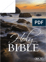 The NKJV Holy Bible, Larger Print