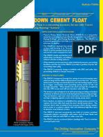 108 73000e Pump Down Cement Float