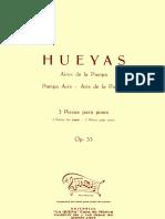 WILLIAMS, A. - Hueyas Op. 33-Partitura
