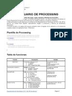 Prontuario de Processing