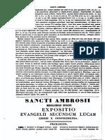 ST Ambrosius - St. Luke commentary
