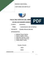 trabajo de investigacion- contaminacion del rio quillcay
