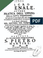 Sacro Arsenale, Ovvero Pratica Dell'Uffizio Della Santa Inquisizione