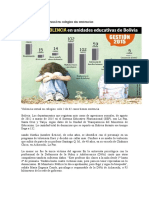 Bolivia. Violencia Sexual en Colegios Sin Sentencias
