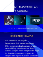 Oxigenoterapia, Cánulas y Sondas