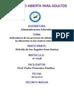 TAREA DE UNIDAD 3 INDICADORES DE LOS PROCESOS DE ADMINISTRACION DE LA EDUCACION.docx