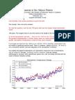 Response to Senator- Climate Change