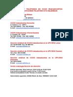 Doc156620 Direcciones y Telefonos de Nuestras Sedes