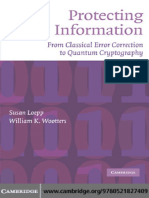 Protecting Information From Classical Error Correction to Quantum Cryptography