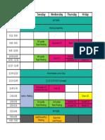 Drain Schedule 16.17