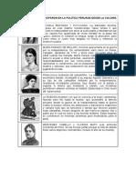 Mujeres Que Participaron en La Politica Peruana Desde La Colonia