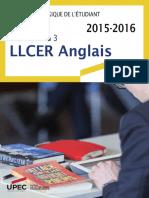 Livret LLCER Anglais 2015-16