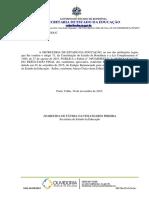 Edital Nº 39 – Homologação Do Resultado Final Do Processo Seletivo Estagiário