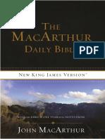 The MacArthur Daily Bible, NKJV - Week 1