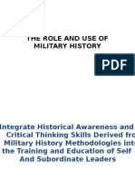 9. the Role and Use of Military History-1