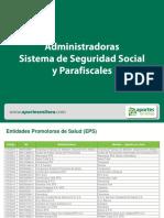 Administradoras Sistema de Seguridad Social y Parafiscales.pdf