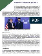 ¿Confidencialidad o Divulgación La Respuesta de WikiLeaks Al TTIP - EOM