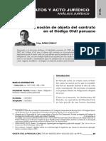 La Noción de Objeto Del Contrato en el Código Civil peruano