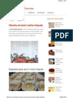 Www.boloaniversario.com Receita de Bolo Toalha Felpuda