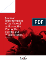 Status of Implementation of the National Anticorruption Plan for the Forestry and Wildlife Sectors
