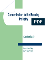 Banking Concentration Dilemma Interesting