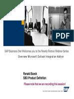 SAP Business One Outlook Integration