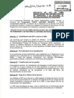 Propone Libre Desafiliación Del Sistema Privado de Pensiones y de Retorno Al Sistema Nacional de Pensiones